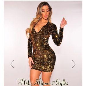 Hot Miami Styles Sequin Mini
